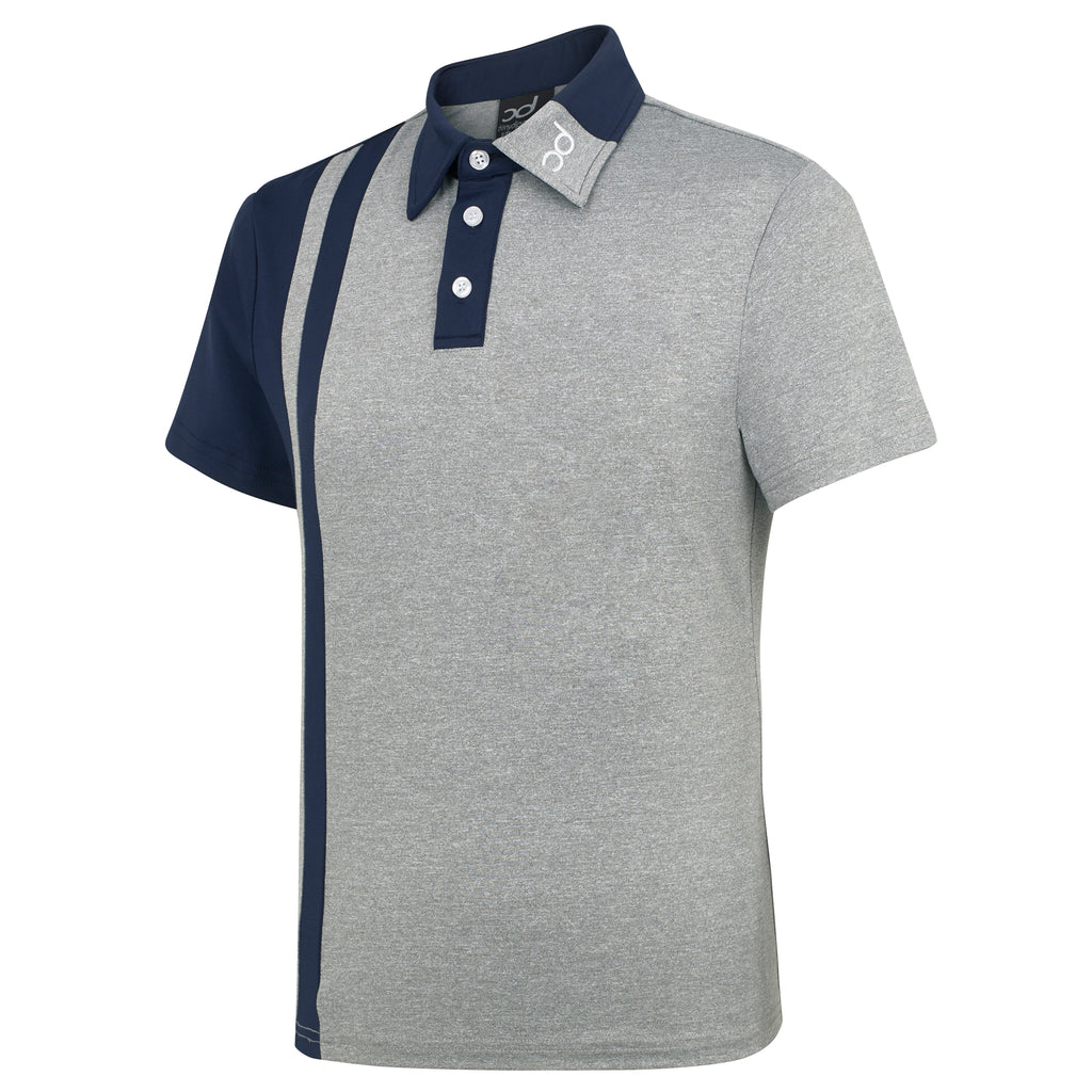 FIN Polo - Grey Fleck/Navy