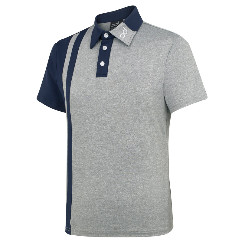 FIN Men's Polo - Grey Fleck/Navy