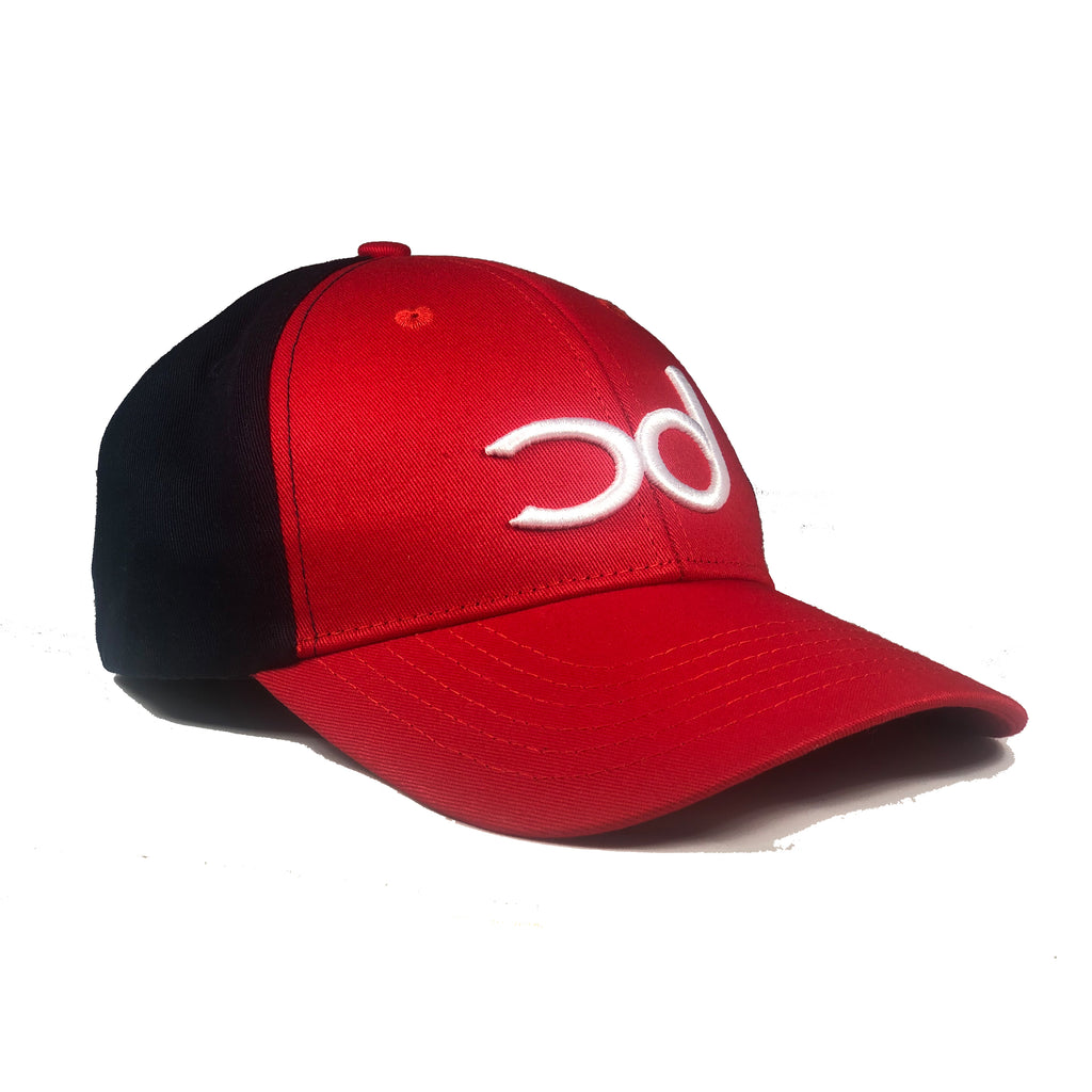 GEO Baseball Cap - Red/Navy Blue