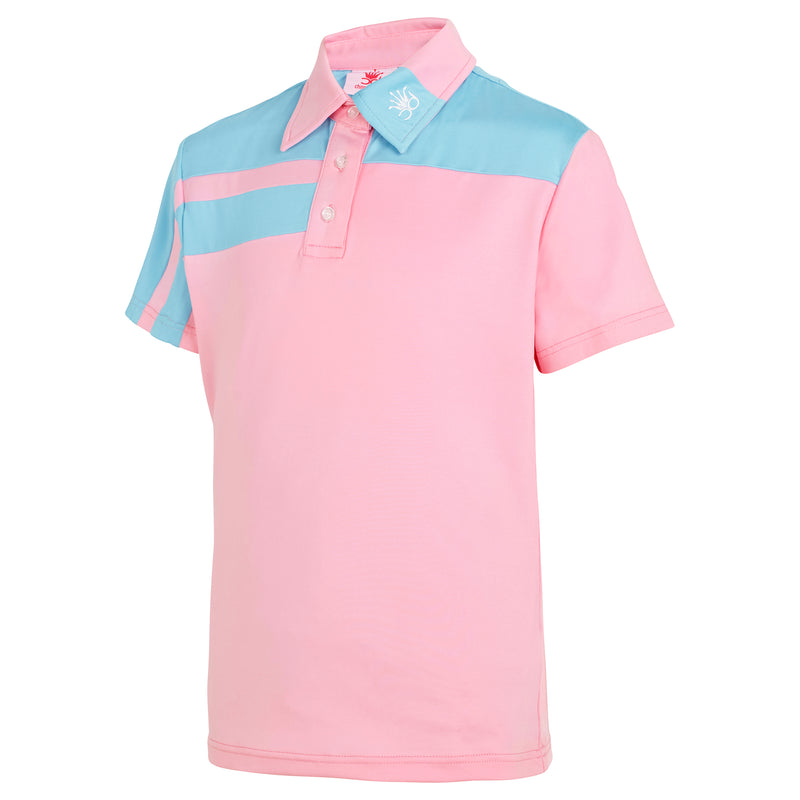 IZZY Girls Polo - Coral/Navy