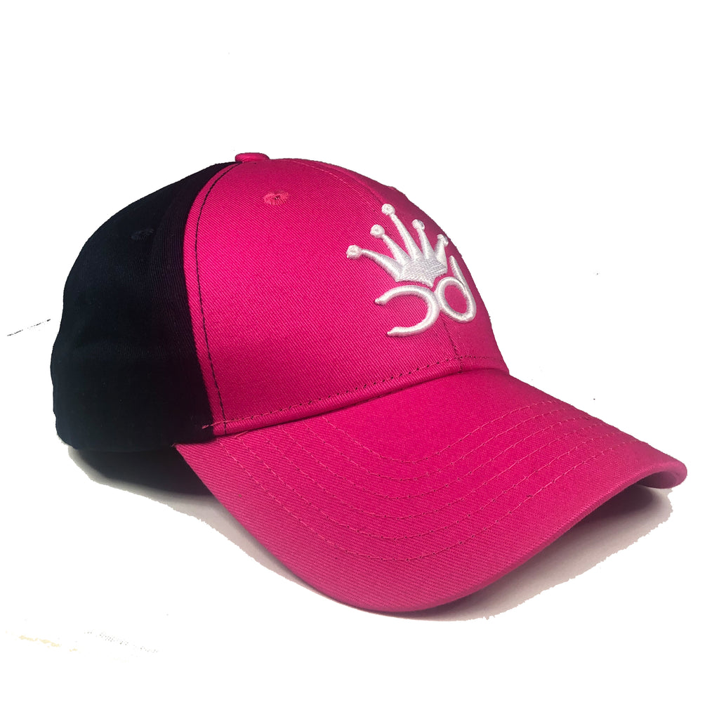 NIX Girls Baseball Cap - Hot Pink/Navy Blue
