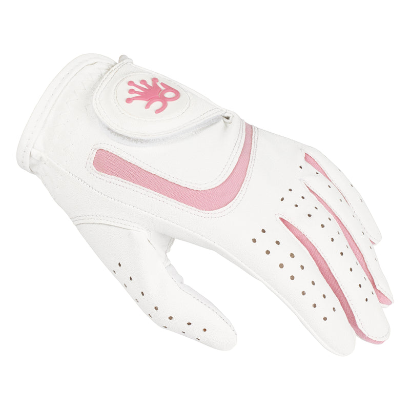 GIRLS PINK ALL WEATHER GLOVE - RIGHT HAND (Left Handed Golfer)