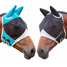 Load image into Gallery viewer, Horse Detachable Mesh Mask With Nasal Cover Horse Fly Mask Horse Full Face Mask Anti-mosquito Nose Anti-UV