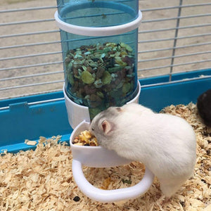Automatic Pet Food Feeder Water Feeder Hamster Rabbit Bird Small Animal Round Cage Drinker Drinking Fountain Dropship 2019