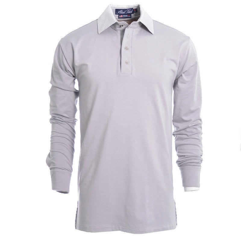 Lions Grey Long Sleeve Polo - Alial Fital American made polos for men - 1