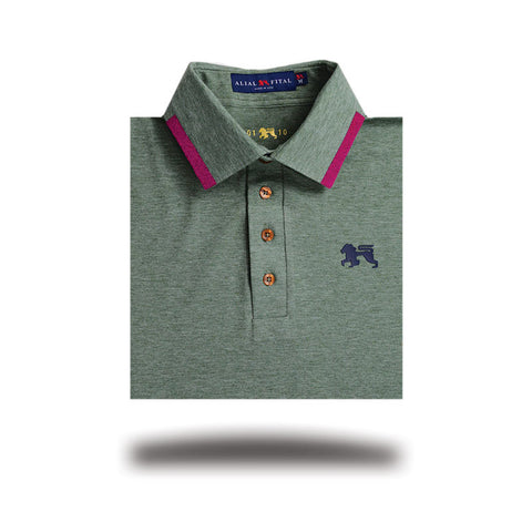 Mens Polo shirt made in the USA, Trid Stone Alial Fital