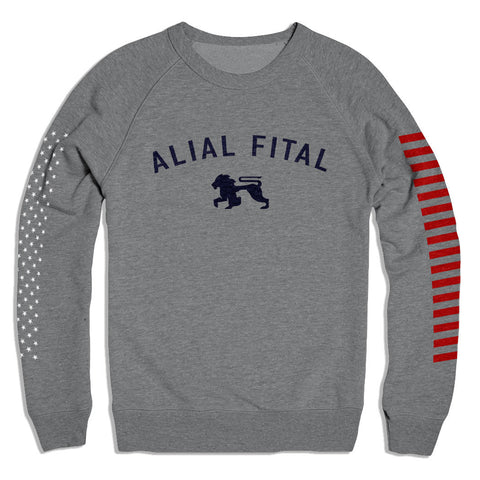 Mission Control Grey Crew - Alial Fital American made polos for men