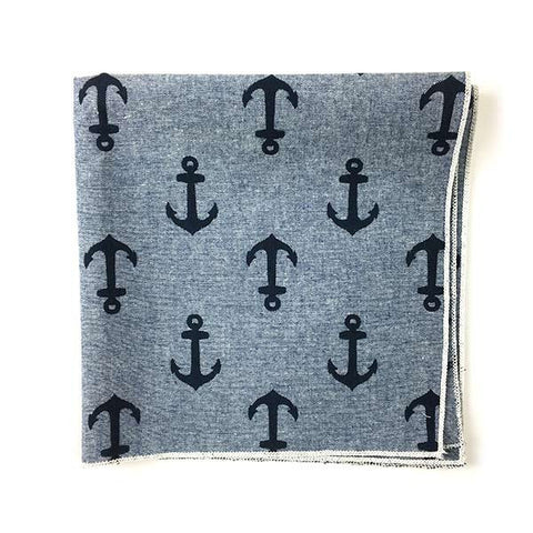 Anchors Pocket Square - Alial Fital American made polos for men