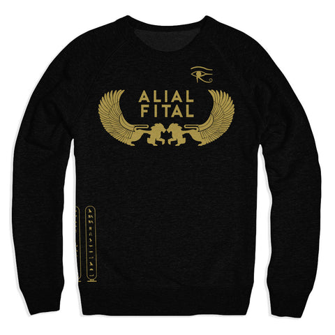 Ancient Egypt Black Crew - Alial Fital American made polos for men