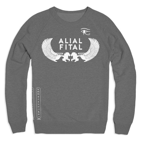 Ancient Egypt Grey Crew - Alial Fital American made polos for men