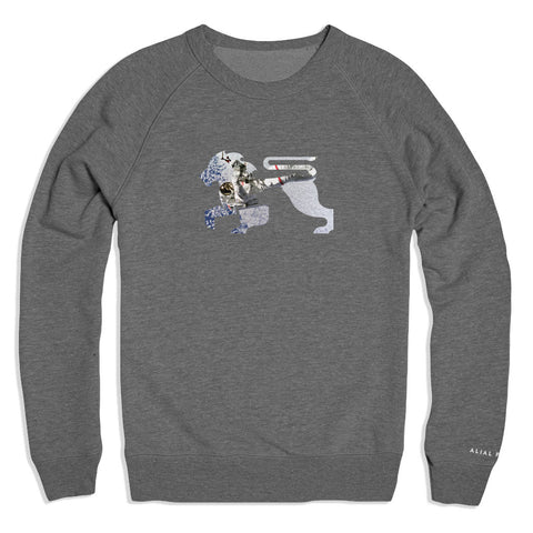 Astro Lions Grey Crew - Alial Fital American made polos for men