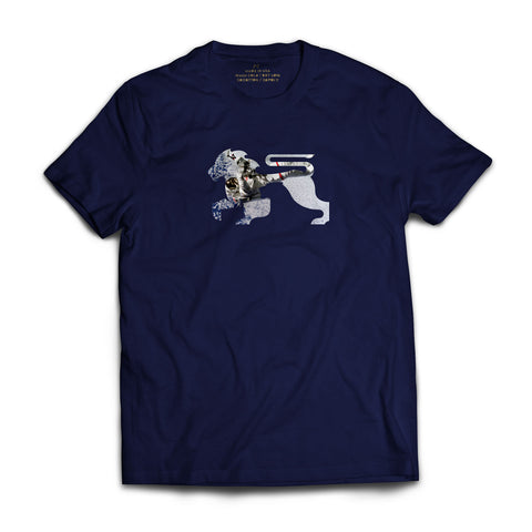 Astro Lions Navy Tee - Alial Fital American made polos for men