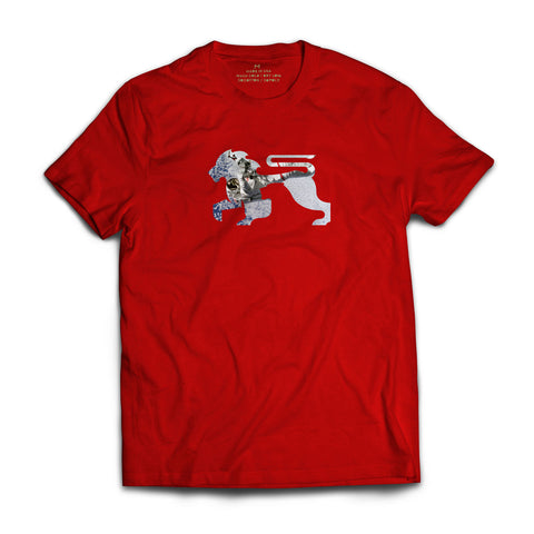 Astro Lions Red Tee - Alial Fital American made polos for men