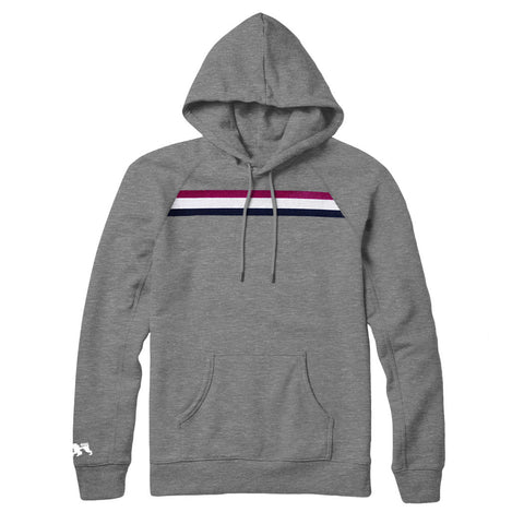 Berry Stripe Grey Hoodie - Alial Fital American made polos for men - 1