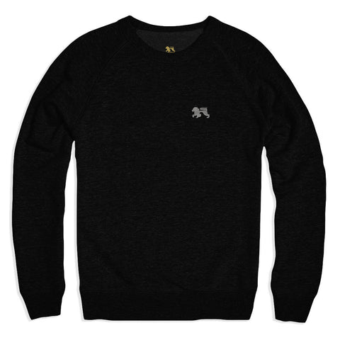 Silver Lions Black Crew - Alial Fital American made polos for men