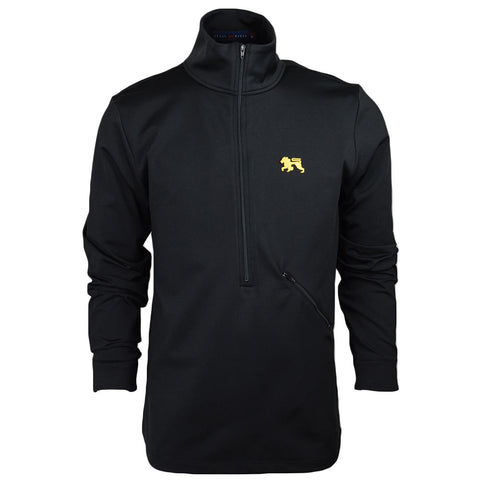 Roster Black.Gold Zip Up - Alial Fital American made polos for men - 1