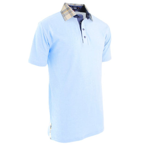 Sunset Blue Modern Polo - Alial Fital American made polos for men - 1