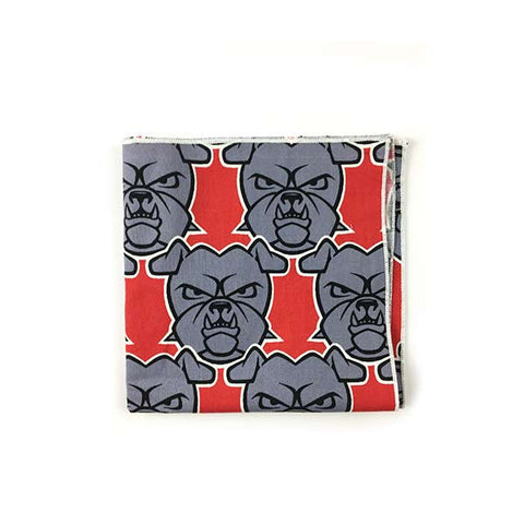 Bulldog Pocket Square - Alial Fital American made polos for men
