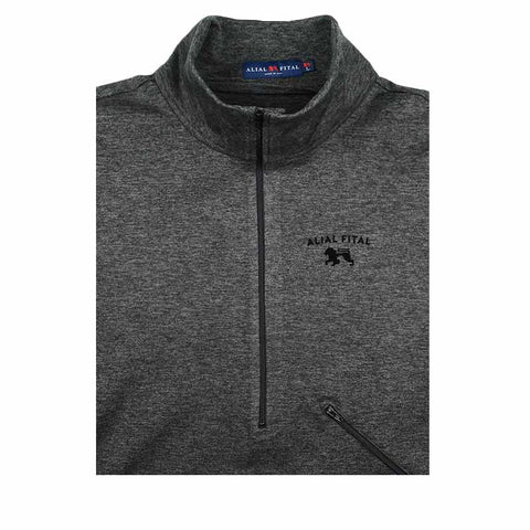 Charcoal Black Arc Zip Up