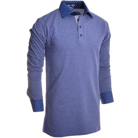 Chillwave Jones Long Sleeve Polo - Alial Fital American made polos for men - 1