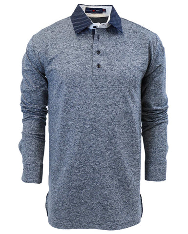 Navy Closer LuxLYR Long Sleeve Polo