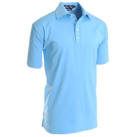 Ace Columbia Blue Polo - Alial Fital American made polos for men - 1