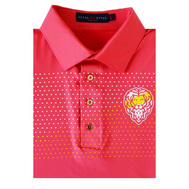 Sunset Jungle Polo - Alial Fital American made polos for men - 1