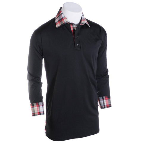 Cross the Gate Push Polo - Alial Fital American made polos for men - 1