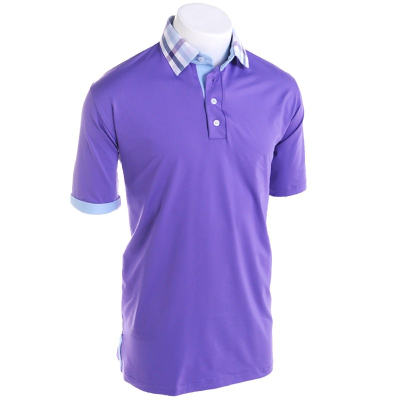 Pine Jewel Golf Polo - Alial Fital American made polos for men - 1