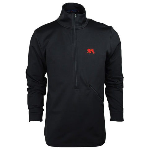 Roster Black.Red Zip Up - Alial Fital American made polos for men - 1