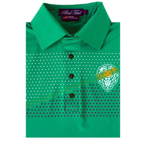 Agave Mulberry Jungle TEXTURE Polo - Alial Fital American made polos for men - 1