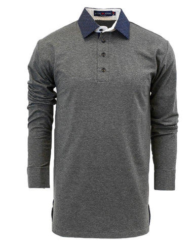 Charcoal Closer Long Sleeve Polo