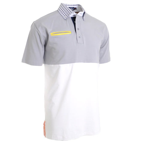 Cloud & Sea Grey Polo - Alial Fital American made polos for men - 1