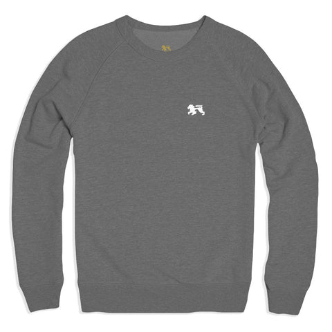 White Lions Grey Crew - Alial Fital American made polos for men