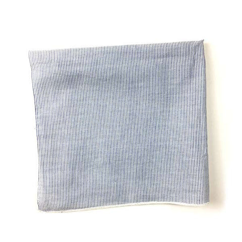 Linen Navy Stripe Pocket Square - Alial Fital American made polos for men