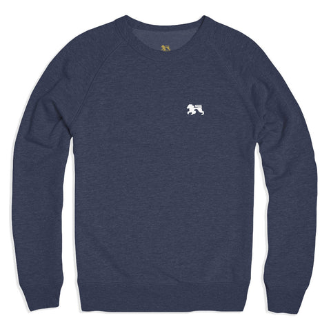 White Lions Navy Crew - Alial Fital American made polos for men