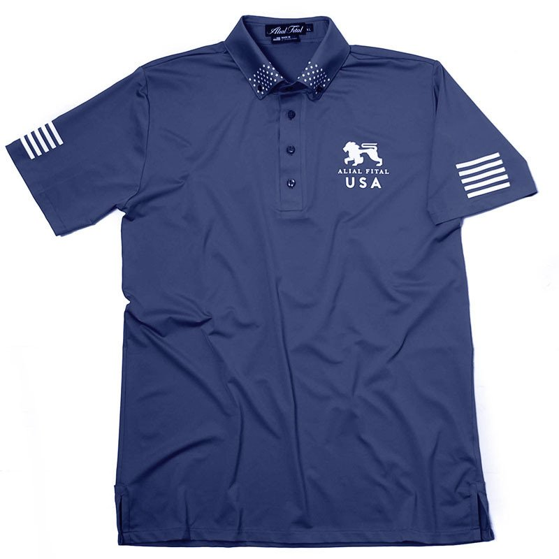 Patriot Air Navy Polo - Alial Fital American made polos for men - 1