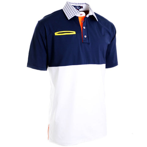 Cloud & Sea Navy Polo - Alial Fital American made polos for men - 1