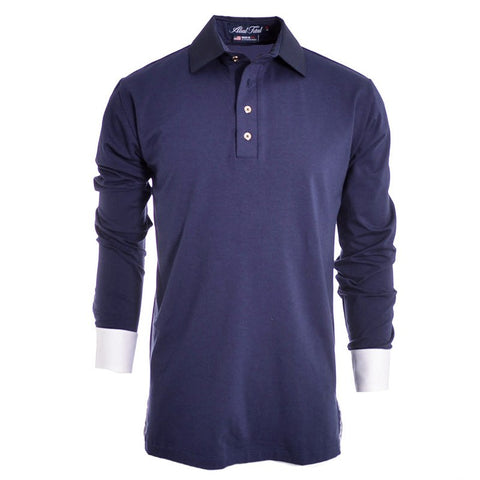 Lions Navy Long Sleeve Polo - Alial Fital American made polos for men - 1