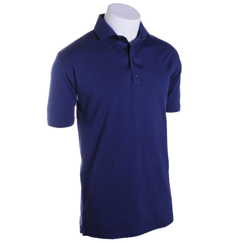 Navy Solid Polo - Alial Fital American made polos for men - 1