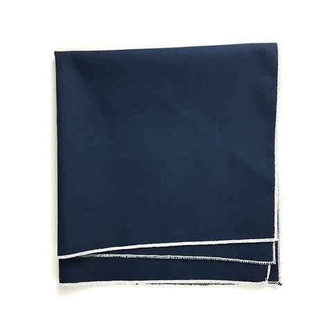 Navy Pocket Square - Alial Fital American made polos for men
