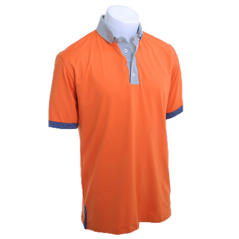 Orange Army Golf Polo - Alial Fital American made polos for men - 1