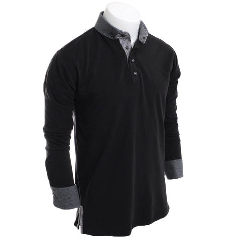 Palace of Winds Long Sleeve Polo - Alial Fital American made polos for men - 1