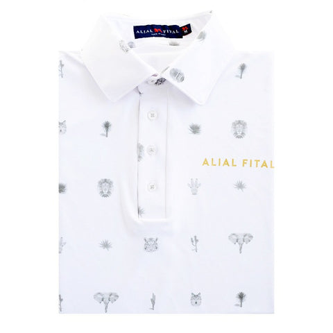 Palm Desert Jungle Polo - Alial Fital American made polos for men - 1
