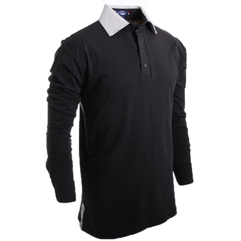 The Parisian Long Sleeve Polo - Alial Fital American made polos for men - 1