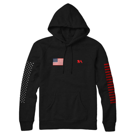 Patriot Black II Hoodie - Alial Fital American made polos for men