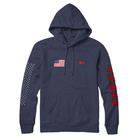 Patriot Navy II Hoodie - Alial Fital American made polos for men