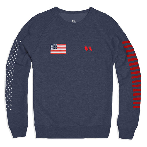 Patriot Navy II Crew - Alial Fital American made polos for men