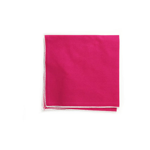 Fuschia Pocket Square - Alial Fital American made polos for men