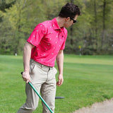 Tigers Fuschia Jungle Polo - Alial Fital American made polos for men - 5